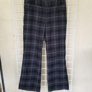 Candie's Plaid Mid-Rise Bootcut Dress Pants Size 5